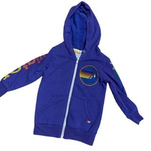 Aviator Nation Kids Toddler Purple Full Zip Hoodie